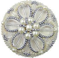 """БП-196 Набор для изготовления броши Crystal Art """"Жемчужные лепестки"""" , Код товара: 1065704"""