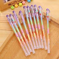Гелевая ручка с разноцветными чернилами