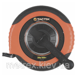 Рулетка фиберглассовая 30 м х 15 мм. Tactix