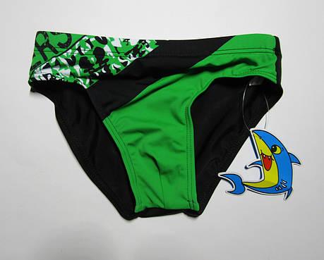 Детские плавки для мальчика Teres 3301 Черный + зеленый, фото 2