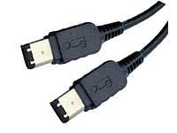 Шнур мультимедийный Firewire IEEE 1394B (штекер 6рin -штекер 6рin), 1,5метра