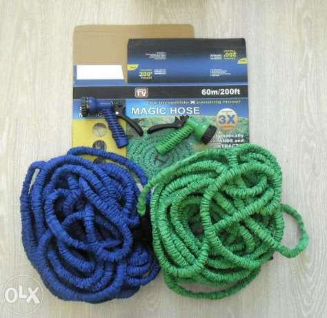 Садовый Компактный шланг X-hose 60 м 200FTс водораспылителем. Шланг для полива