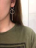 Жіночі довгі сережки, фото 2