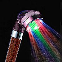 Светодиодная насадка для душа Led Shower с автоматической подсветкой и керамическим фильтром