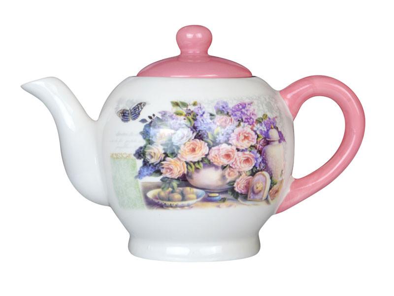 """Чайник заварочный """"Розовый букет"""" 730 мл, Lefard, 358-804"""