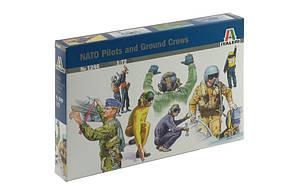 Набор фигур пилотов и обслуживающего персонала НАТО. 1/72 ITALERI 1246