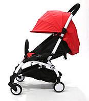 СУПЕР лёгкая и удобная детская прогулочная коляска YOYA 165 обновлённая (лён 4-ярусная)