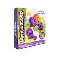 Пісок для дитячої творчості - KINETIC SAND DOGGY (фіолетовий, зелений, формочки, 340г), фото 1