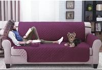 """Покрывало фиолетовое + подушки в подарок на диван """"Vintage"""" 180*180см (на диван шириной 180см), ТЕП"""