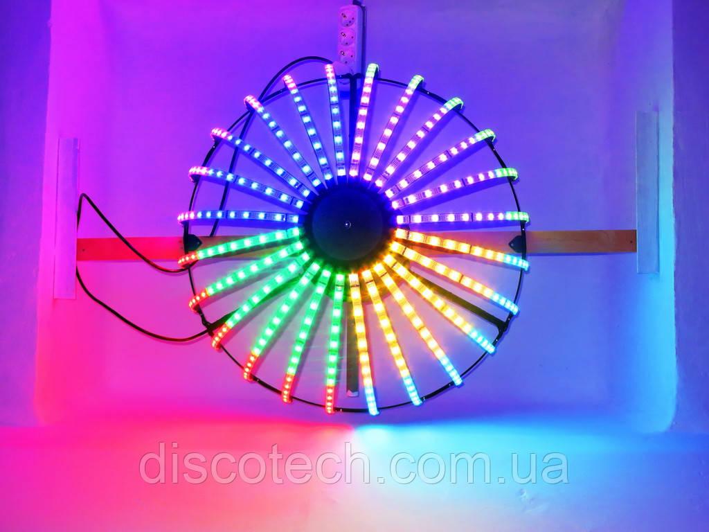 Полусфера полюс-1, диам- 720мм, 24луча, 16пикс/луч, шаг-32 (384пикс, 120W, БП-130W/5V-1шт)