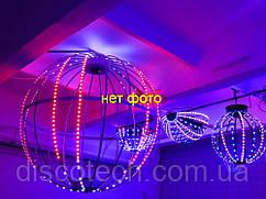 Сфера диаметр- 880мм, 20лучей, 40пикс/луч, шаг-32мм (800пикс, 200W, БП-300W/5V-1шт)