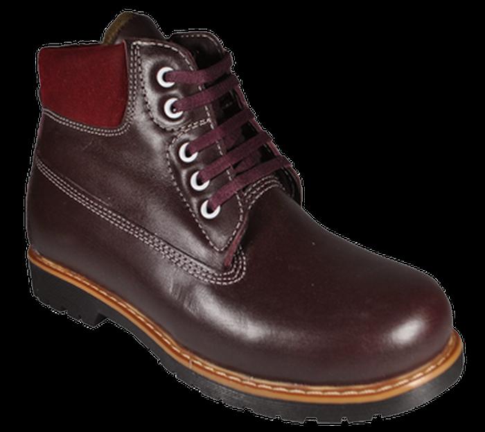 Ботинки ортопедические 06-734, бордовый, 26