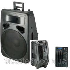 Активная акустическая система 300/600W BIGvoice PP1512A+MP3 пласт. корпус