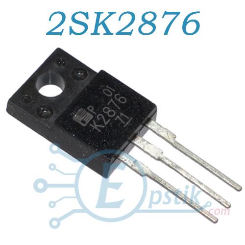 2SK2876, MOSFET транзистор N канал, 500В, 6А, TO220F