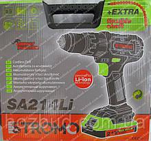 Шуруповерт аккумуляторный ударный Stromo SA214Li