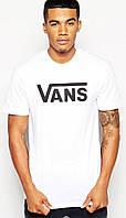 Футболка мужская Vans, ванс белая с черным