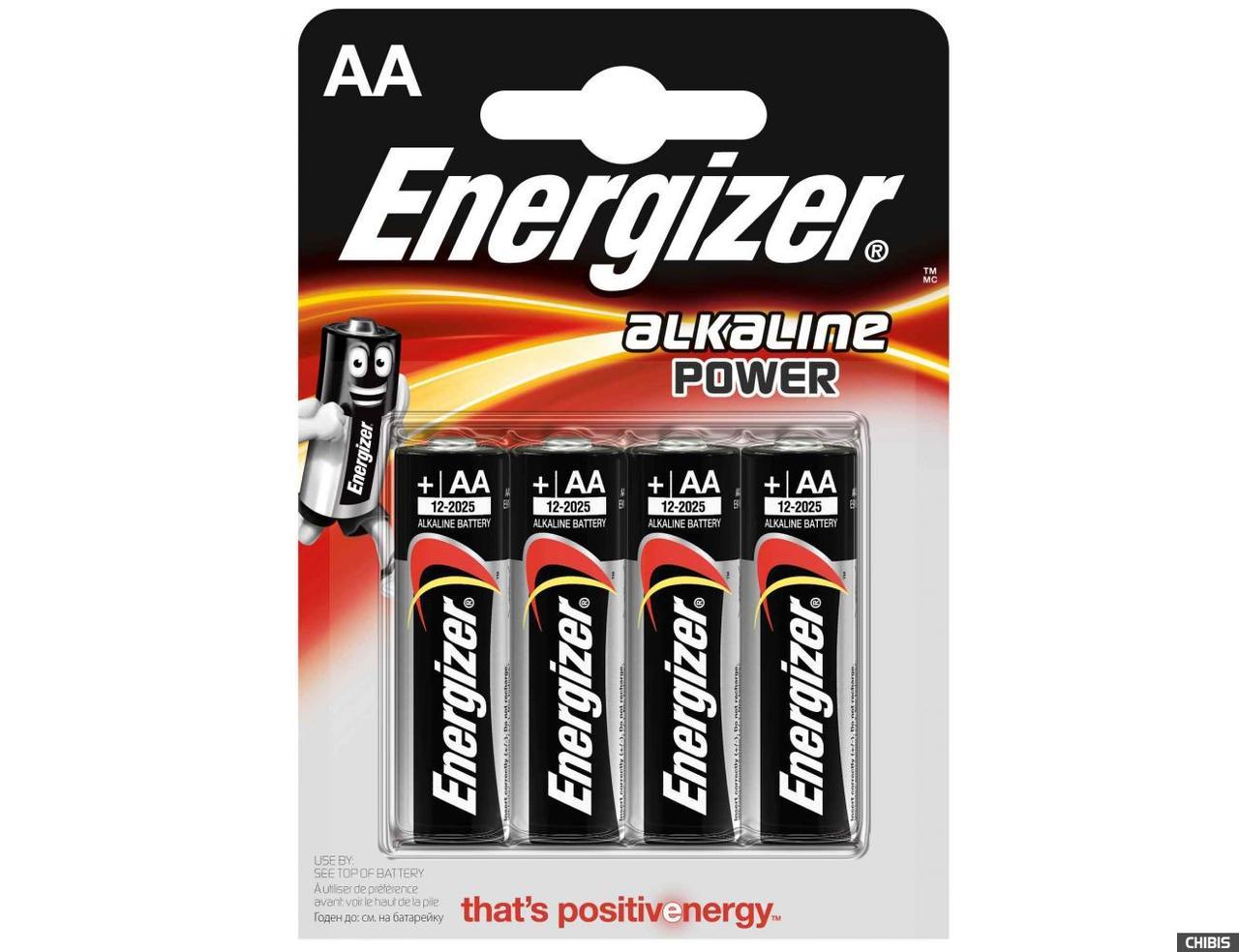 Батарейка ENERGIZER Alkaline Power AA/LR6 (4шт)