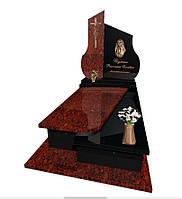 Елітний одинарний пам'ятник з Лезніківського граніту S6013, фото 1