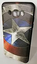Силикон для Samsung J710 3D Captain America Black, фото 2