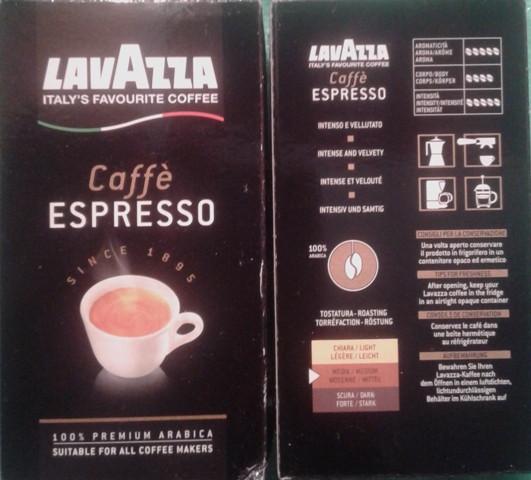 Молотый кофе Lavazza Espresso 250 гр (Развакуум)