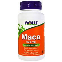 """Мака перуанская NOW Foods """"Maca"""" для мочеполовой системы, 500 мг (100 капсул)"""