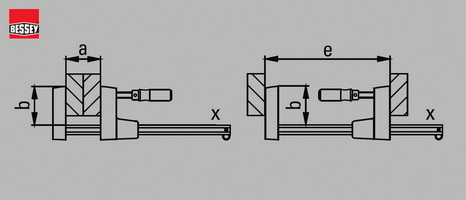 Параметры корпусных струбцин Bessey