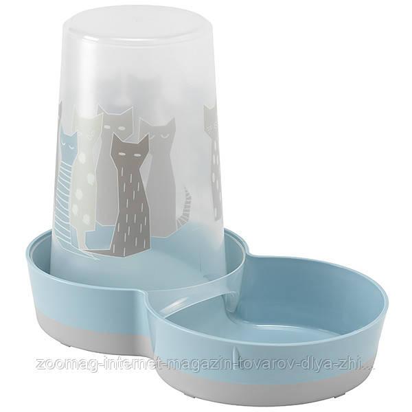 Moderna Tasty Large Maasai кормушка и автопоилка пластиковая для собак (1.5 л) голубой