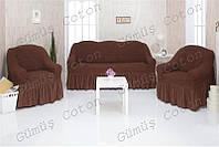 Чехлы на диван и 2 кресла CONCORDIA с оборкой 01-201