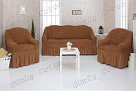 Чехлы на диван и 2 кресла CONCORDIA с оборкой (цветовая гамма в наличии)