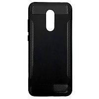 Чехол-накладка DK Silicone Carbon Soft Edge для Xiaomi Redmi 5 Plus (black)