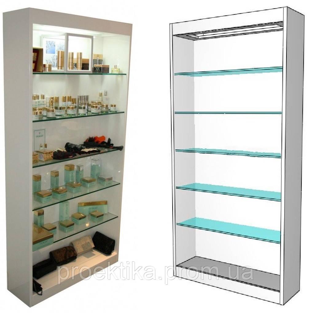 Стеклянные витрины для салонов красоты. Стеллажи, Шкафы, Витрины для парикмахерских