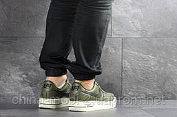 Кроссовки в стиле Air Force AF 1 темно-зеленые. Код 7462, фото 2