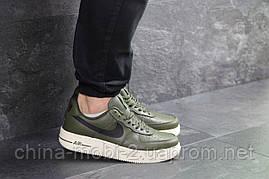 Кроссовки в стиле Air Force AF 1 темно-зеленые. Код 7462, фото 3