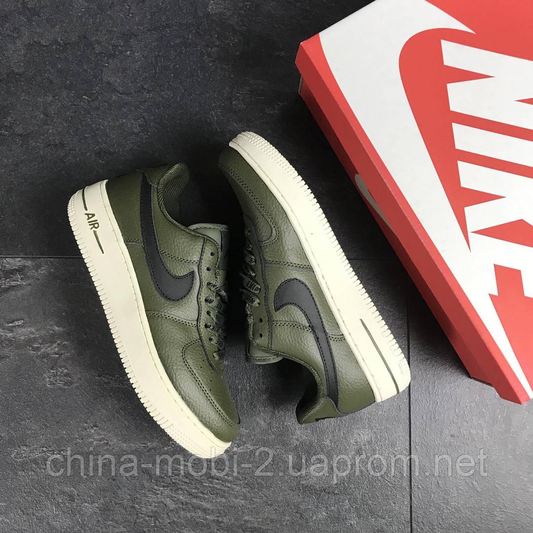 Кроссовки в стиле Air Force AF 1 темно-зеленые. Код 7462