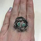 Красивое кольцо изумруд и родолит в серебре. Размер 18,5-19 кольцо с изумрудом и родолитом Тайланд, фото 4