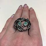 Красивое кольцо изумруд и родолит в серебре. Размер 18,5-19 кольцо с изумрудом и родолитом Тайланд, фото 6