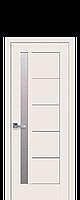 Дверное полотно Грета Магнолия со стеклом сатин