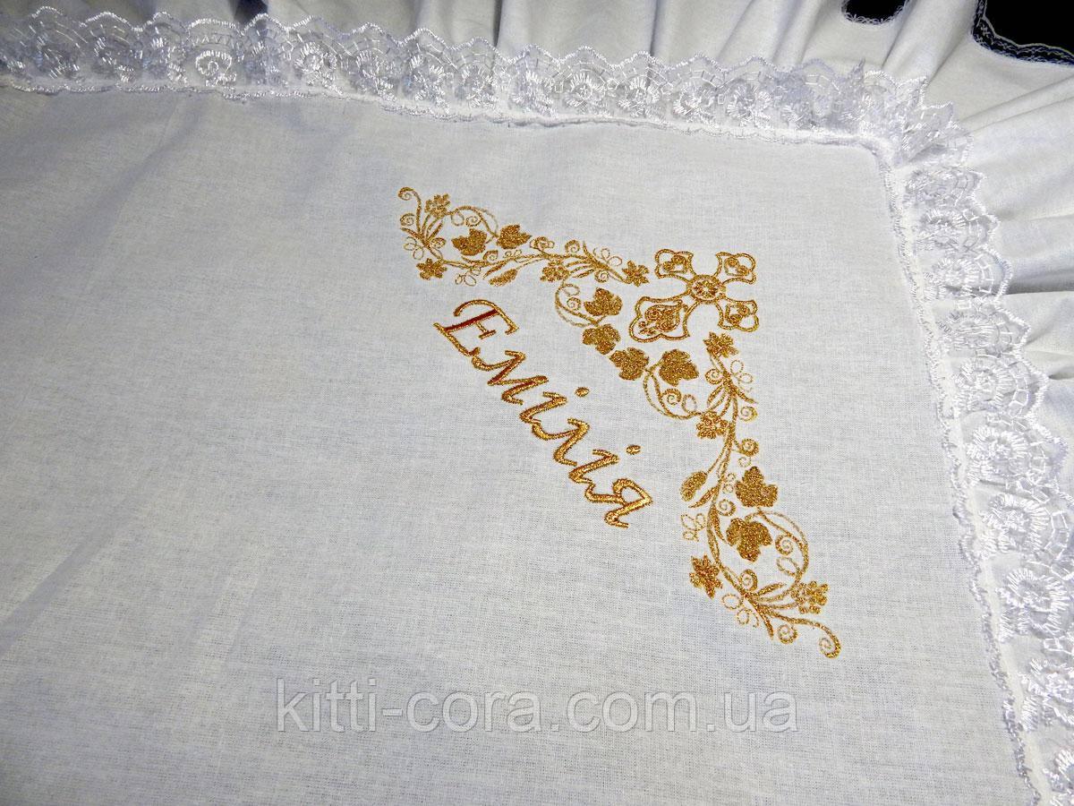 """Дизайн вышивки """"Эмилия"""". Вышивка золотом или серебром."""