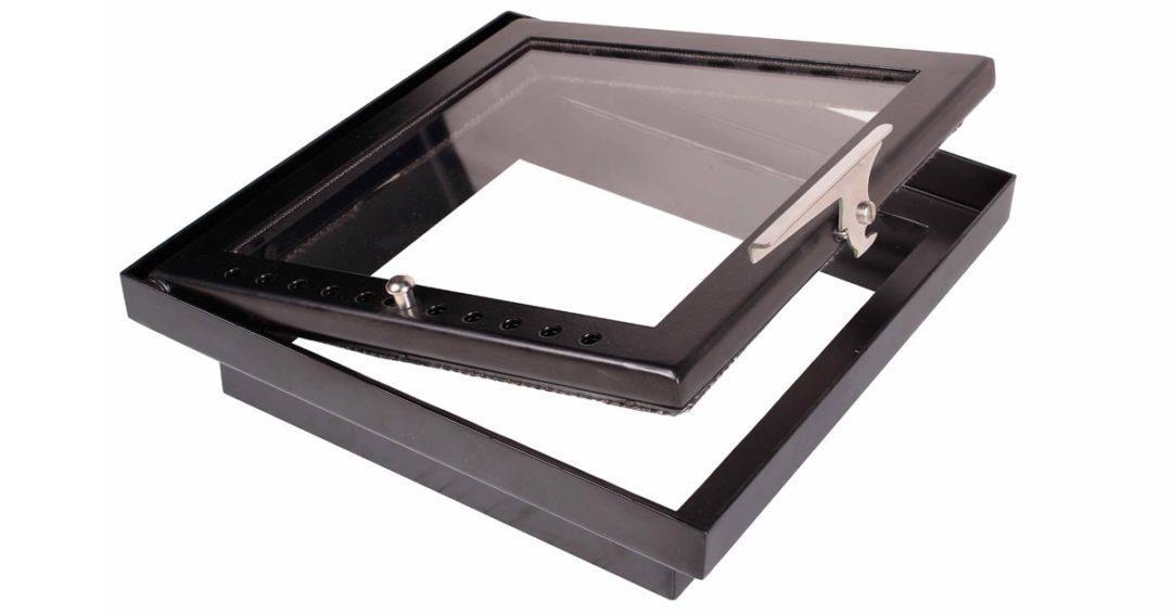Дверца для камина металлическая черная любых размеров