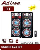 Музыкальный центр, активные колонки AILiANG USBFM-623-DT / 2,0 напольные колонки акустическая система