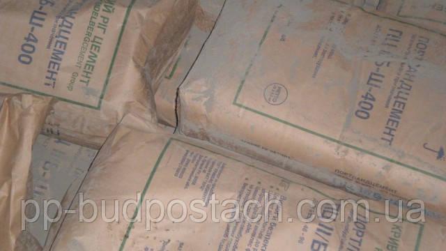 Цемент М 400, 500 упаковка 25, 50 кг Доставка