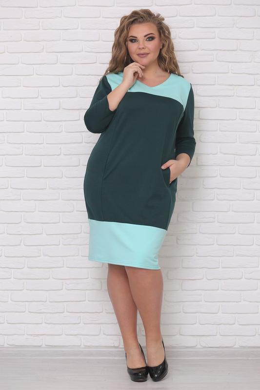 Платье трикотажное женское, размер:42-88