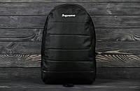 """Рюкзак (ранец, портфель) бренда """"SUPREME"""" черного цвета, мужской"""