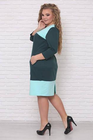 Платье трикотажное женское, размер:42-88, фото 2