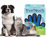 Перчатка для вычесывания шерсти домашних животных - True Touch, фото 3
