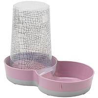 Moderna Tasty WildLife 2в1 автокормушка и автопоилка пластиковая для кошек и собак (1.5 л) розовый