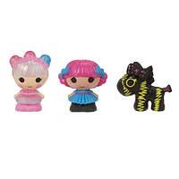Набор с куклами КРОШКАМИ LALALOOPSY - МЕРЦАЮЩАЯ ФЕЯ И ПАРИЖАНКА (2 куклы, питомец)