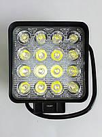 Светодиодная LED противотуманная фара ЛИДЕР (1 шт) 29 48W 60MM ближнего света 110х137х56