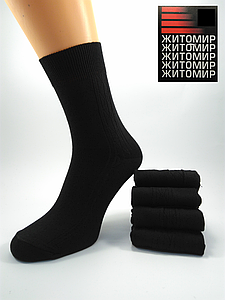 Мужские х\б носки черные 27р. (41-42обувь)