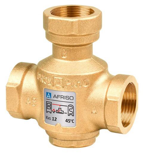Триходовий термічний клапан Afriso ATV 553 DN 32 х 45°C Rp 1'1/4